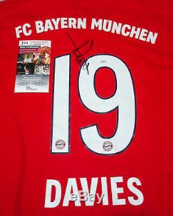 Alphonso Davies #19 Signed FC Bayern Munich Jersey EXACT Proof JSA COA Canada