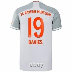 Alphonso Davies Bayern Munich adidas 2020/21 Away Replica Jersey Gray