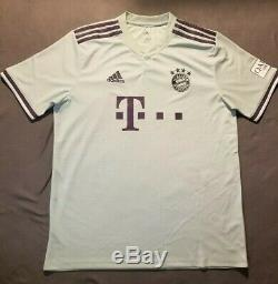 Alphonso Davies Signed Bayern Munich Adidas Jersey Size L Soccer Autographed COA