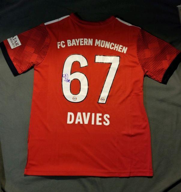 Alphonso Davies Signed Fc Bayern Munich Adidas Climalite Jersey Autographed Coa