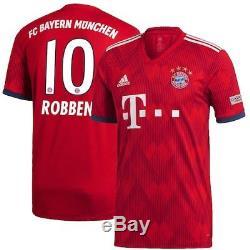 Arjen Robben Bayern Munich adidas 2018/19 Home Authentic Player Jersey Red