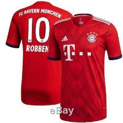 Arjen Robben Bayern Munich adidas 2018/19 Home Replica Player Jersey Red