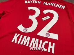 Authentic Adidas 17-18 FC BAYERN MUNICH JOSHUA KIMMICH Home Red Jersey L AZ7960