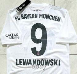 Authentic Adidas Bayern Munich 2019/20 Away Jersey Lewandowski 9. BNWT, Size S