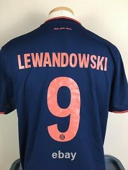 Authentic Climalite Lewandowski #9 Bayern Munich Jersey 2019 Jersey Mens XL