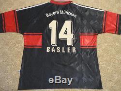 Authentic Germany Bayern Munich Mario Basler Soccer Football Game Jersey Shirt