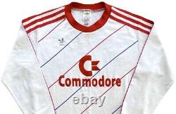 Authentic Vintage Adidas Bayern Munich 1985-88 L/S Away Jersey. Size S, Exc Cond