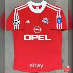 Authentic Vintage Adidas Bayern Munich 2001/02 CL Home Jersey. Size S, Exc Cond