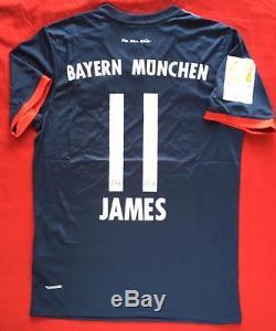 1343e8050d8 Bayern Munchen 17/18 Season James Rodriguez Jersey Men's Medium Stadium  Jersey