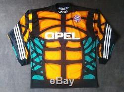 BAYERN MUNCHEN MUNICH Goalkeeper Jersey 1996 OLIVER KAHN Vintage Adidas Shirt L