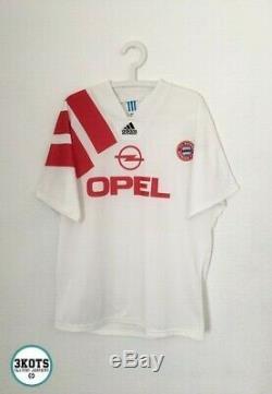 BAYERN MUNICH 1991/93 Adidas Away Football Shirt L/XL Mens Vintage Soccer Jersey