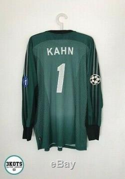 BAYERN MUNICH 2003/04 Adidas Champions Football Shirt L Goalkeeper Soccer Jersey