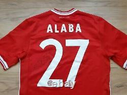 BAYERN MUNICH 2013-14 ALABA sign! Shirt trikot camiseta jersey! 4,5/6! 7 size