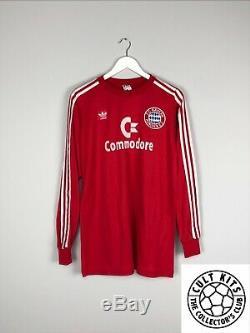 BAYERN MUNICH #5 84/89 L/S Home Football Shirt (L) Soccer Jersey Adidas