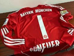 BAYERN MUNICH gk 2013/14 shirt NEUER #1 Goalkeeper-Germany-Trikot-Jersey (M)