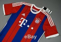 BAYERN Munich Lewandowski 2014-15 M Home Shirt Jersey Authentic Stadium BNWT