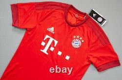 BAYERN Munich Robert LEWANDOWSKI 2015-2016 S Home Soccer Shirt Jersey BNWT