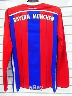 Bnwt Fc Bayern Munchen Munich Long Sleeves 2014/2015 Home Football Jersey Trikot