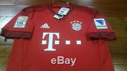 BWT Adidas Bayern Munich #9 Lewandowski 15/16 Original S M L XL