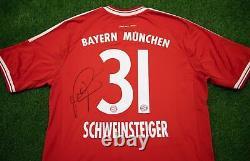 Bastian Schweinsteiger Signed Bayern MUNICH JERSEY Genuine Signature AFTAL COA