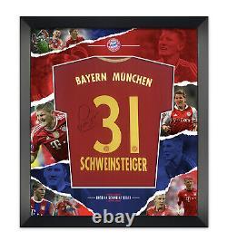 Bastian Schweinsteiger Signed & FRAMED Bayern MUNICH JERSEY AFTAL COA (B)