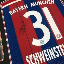 Bastian Schweinsteiger Signed & FRAMED Bayern MUNICH Muenchen JERSEY AFTAL COA
