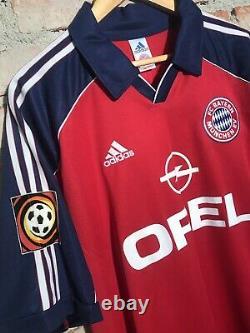 Bayern De Munique 2000 Match Worn 6 Wiesinger Equipment Patch Size XL Bundesliga