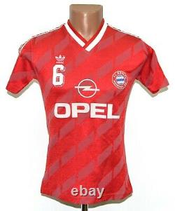 Bayern Munchen 1987/1988 Home Football Shirt Jersey Adidas #6 Size S Adult