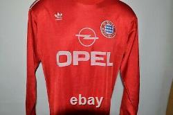Bayern Munchen 1989/1990/1991 Home Football Shirt Jersey Size L Long Sleeve