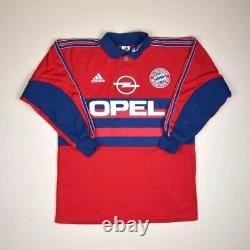 Bayern Munchen 1998/1999 Goalkeeper Football Shirt Jersey Adidas #1 Kahn Size S