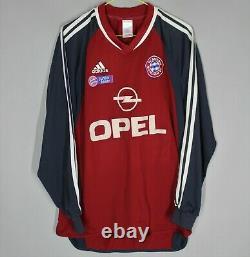 Bayern Munchen 2001/2002 Home Shirt Jersey Match Worn Long Sleeve Junior #11