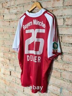 Bayern Munchen 6 Deisler Adidas Match Worn Home Patch DFB Pokal Rare XL 2004/05