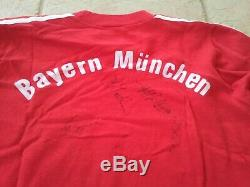 Bayern Munchen 80s ORIGINAL jersey IVECO Magirus 6 signatures Rummenigge Aumann