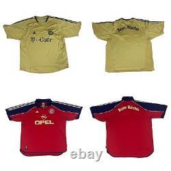 Bayern Munchen Bundle Combo Loot x7 Vintage Jersey Size XXL Soccer Bundes Liga
