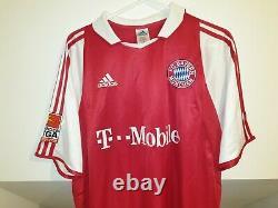 Bayern München Football Home Shirt Jersey Trikot 2003 2005 Adidas SCHOLL #7 L