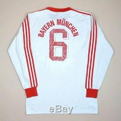 Bayern Munchen Germany 1982/1984 Away Football Shirt Jersey Adidas Vintage #6