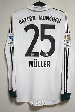 Bayern Munchen MATCH WORN shirt jersey SPIELERTRIKOT Formotion Muller
