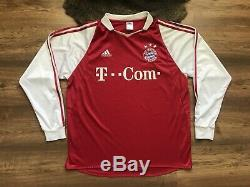 Bayern Munchen Munich 2003/2004 Home Football Shirt Camiseta Jersey Adidas
