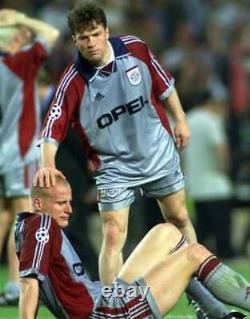 Bayern Munchen Munich FCB adidas 1998 1999 Jersey Shirt Trikot Away OPEL Size L