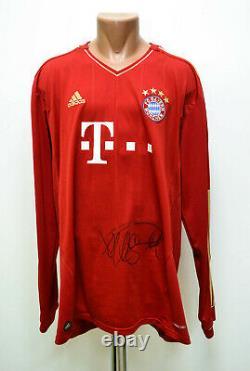 Bayern Munchen Signed 2012/2013 Home Football Shirt Jersey Adidas Long Sleeve