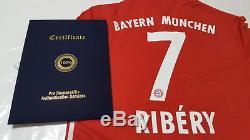 Bayern Munich 16-17 Squad Signed Shirt Jersey withCOA Ribery Robben Lewandowksi