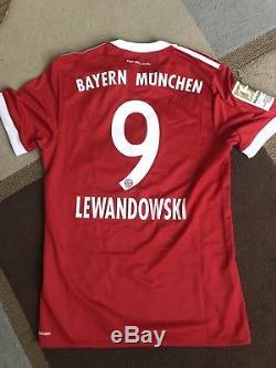 Bayern Munich 17/18 Lewandowski Jersey Size M adidas Authentic Player Issue BNWT