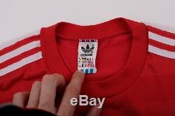 Bayern Munich 1984/1986 Adidas Commodore #8 Home Football Shirt Jersey Size L