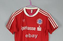Bayern Munich 1984/1989 Home Football Jersey Shirt Trikot Adidas Size S/m #5
