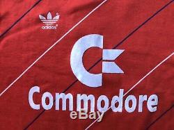 Bayern Munich 1984 1989 Home Football Shirt Jersey Adidas