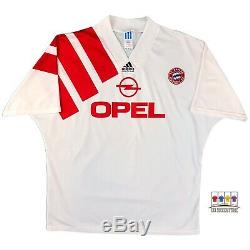 Bayern Munich 1991/93 Away Soccer Jersey XL Adidas Bundesliga