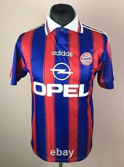 Bayern Munich 1995/1996/1997 ADIDAS Home SPECIAL SIGNED Jersey Men's Size S RARE