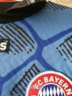 Bayern Munich 1995/1996/1997 KAHN Goalkeeper Adidas Football Soccer Shirt Jersey
