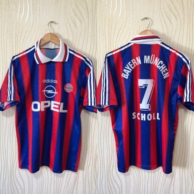 Bayern Munich 1995 1996 Home Football Shirt Soccer Jersey Adidas Scholl #7