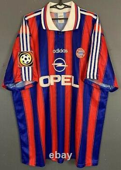 Bayern Munich 1996/1997 Klinsmann Soccer Football Shirt Jersey Trikot Size 2xl